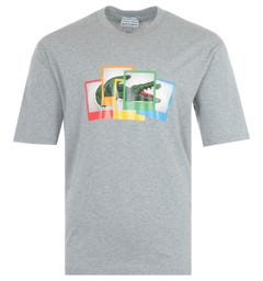 Lacoste LIVE x Polaroid Loose Fit T-Shirt - Grey