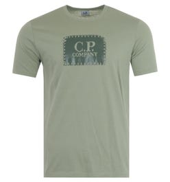 CP Company Label Logo Crew Neck T-Shirt - Tea Green