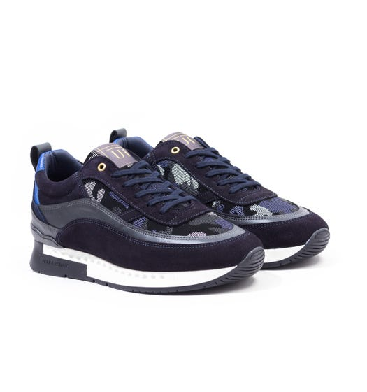 Unlike Humans Influx Runner Particle Camo Trainers - Navy