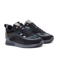 Unlike Humans Influx Runner Particle Camo Trainers - Khaki
