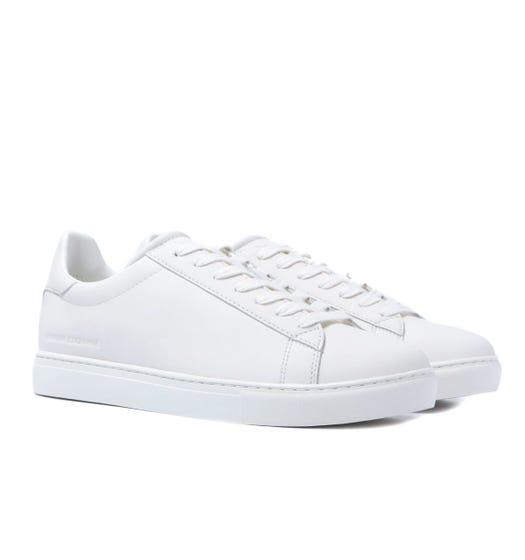 Armani Exchange White Lace Up Trainers