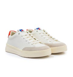 BOSS x Russell Athletic Baltimore Leather Trainers - White