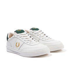 Fred Perry B400 Leather Trainers - Porcelain