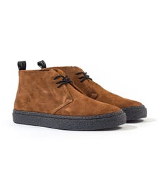 Fred Perry Hawley Suede Chukka Boots - Ginger Brown