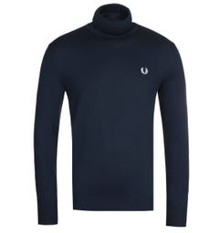 Fred Perry Navy Roll Neck Sweater